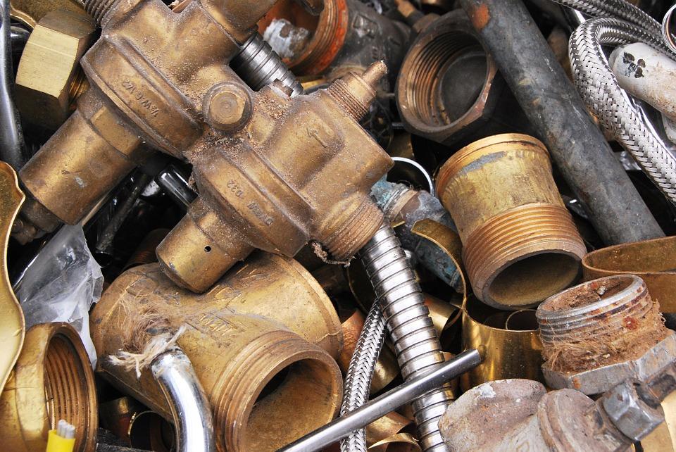 Close up of a pile of scrap metal
