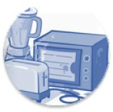 damaged and old electrical equipment and appliances icon