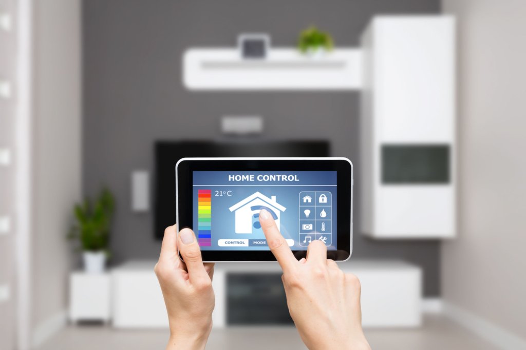 control smart home on computer tablet