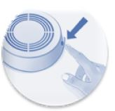 test smoke alarm icon