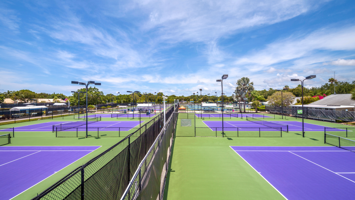 outdoor tennis court LED lighting