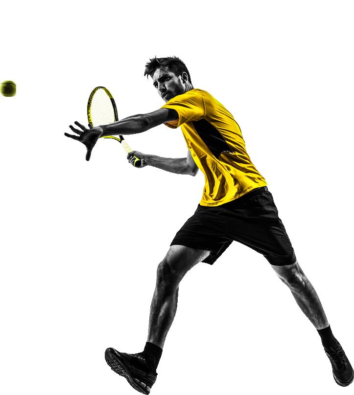 athlete playing tennis