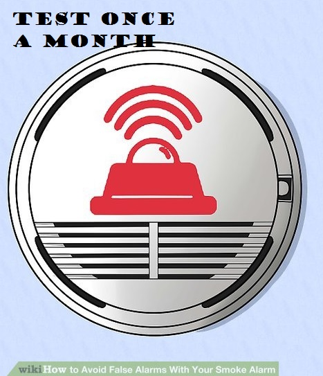 Test fire alarm monthly