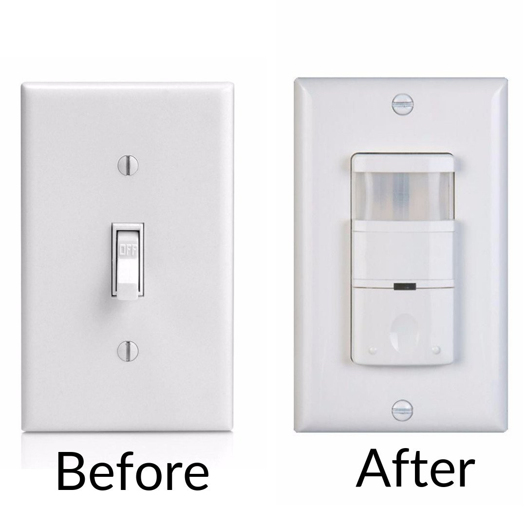 toggle light switch next to motion light sensor