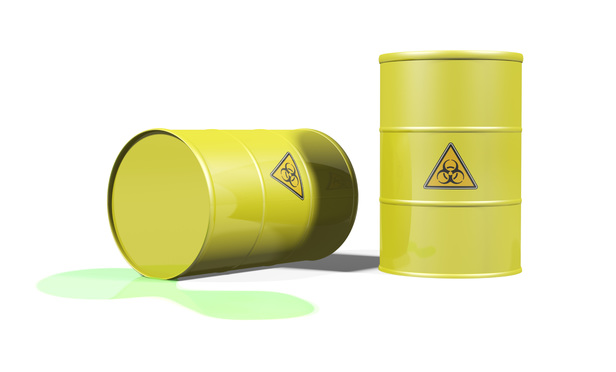toxic chemical spill from barrels