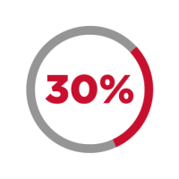 reduced by 30% icon