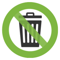 reduce waste icon