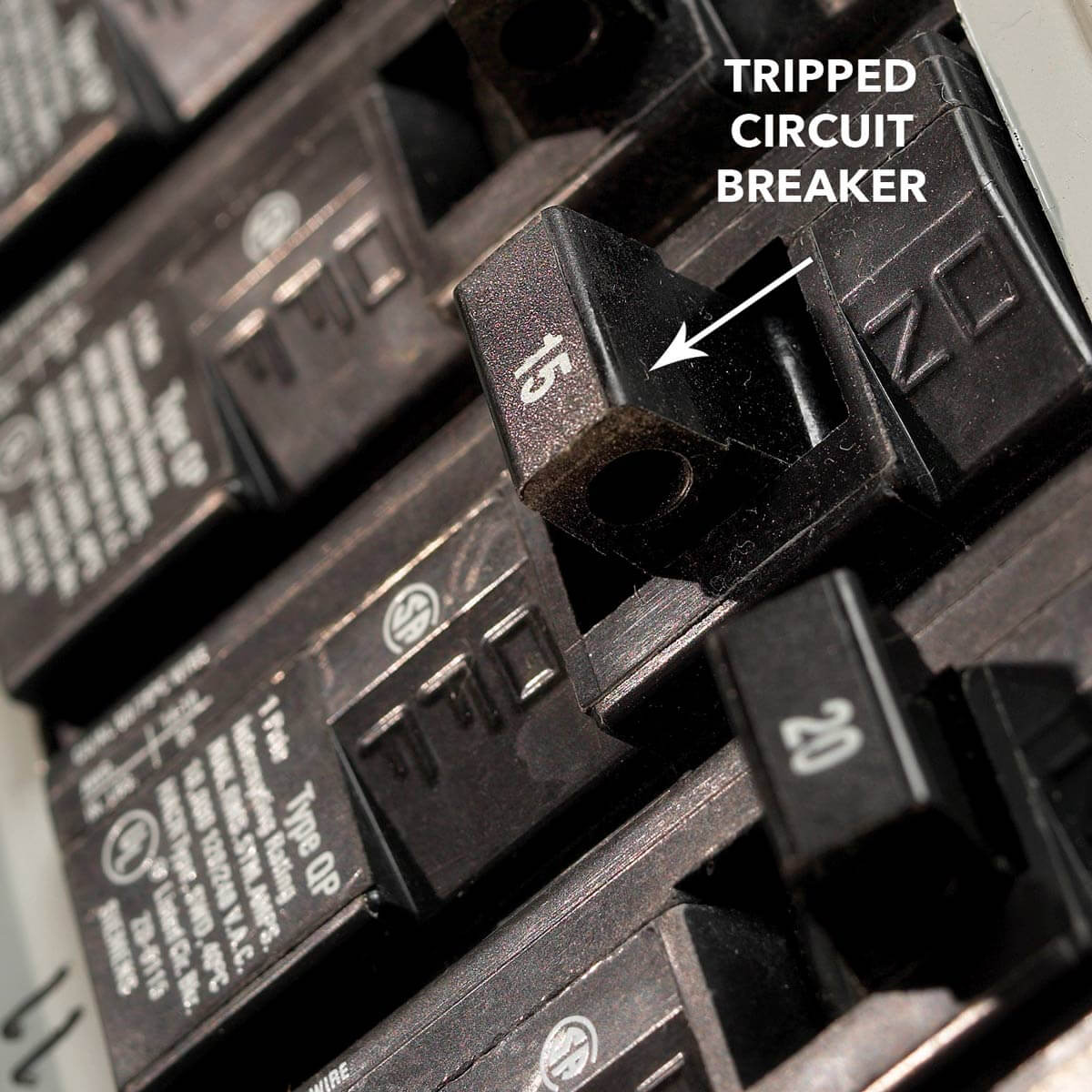 Tripped circuit breaker