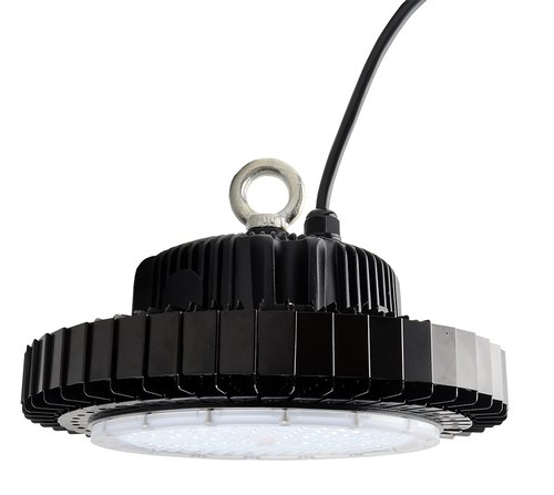 Black UFO light on white background
