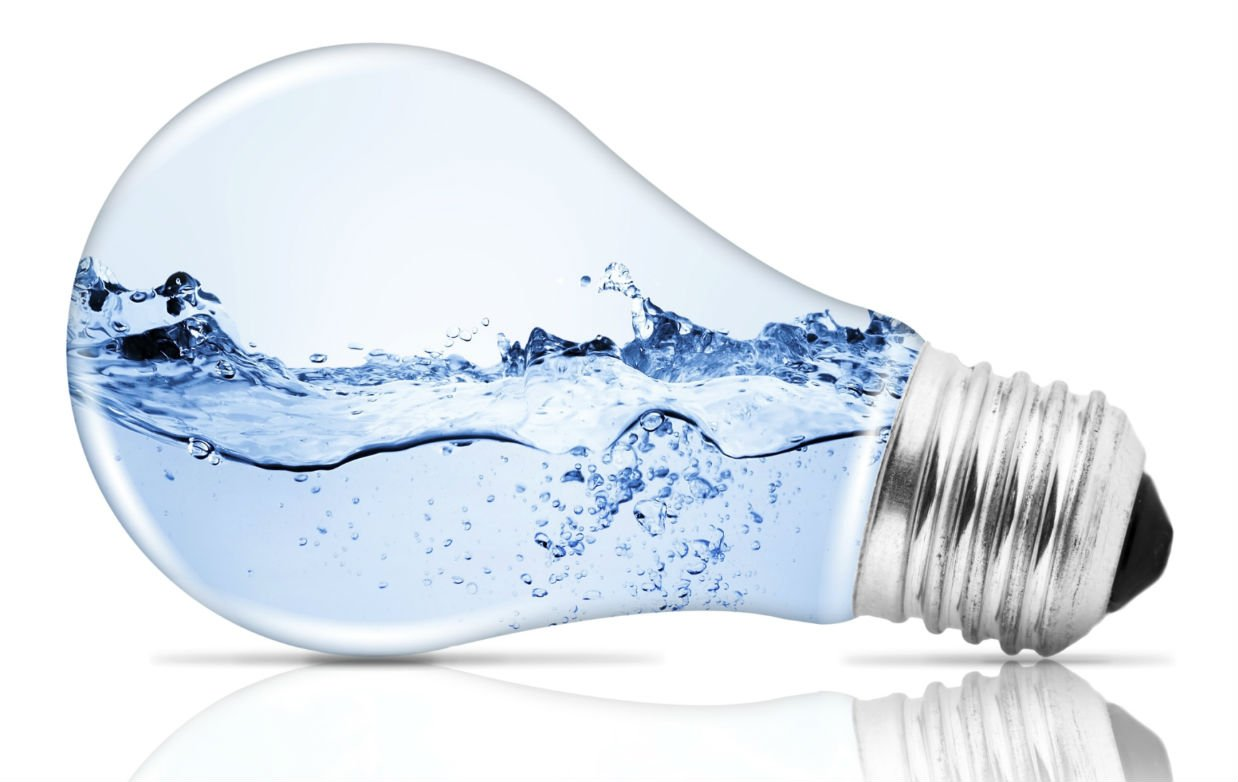 water splashed in light bulb