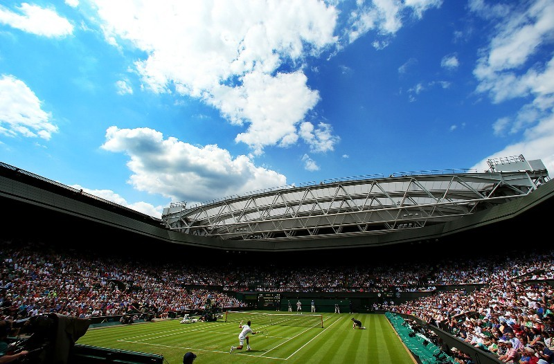 Wimbledon Centre Court open retractable roof
