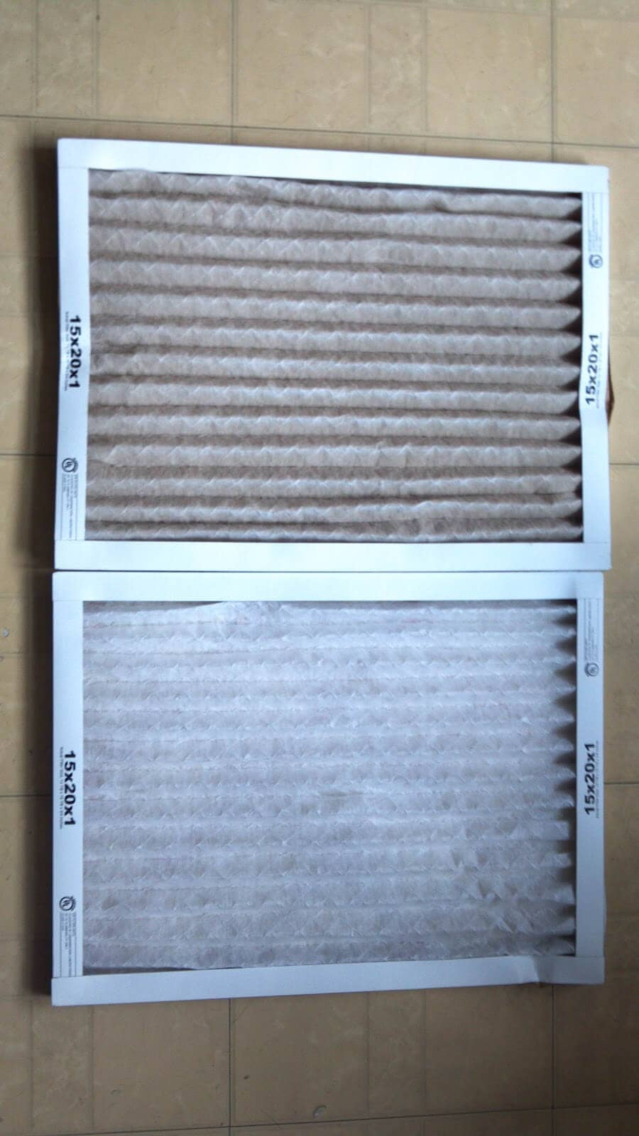 dirty and clean air filters